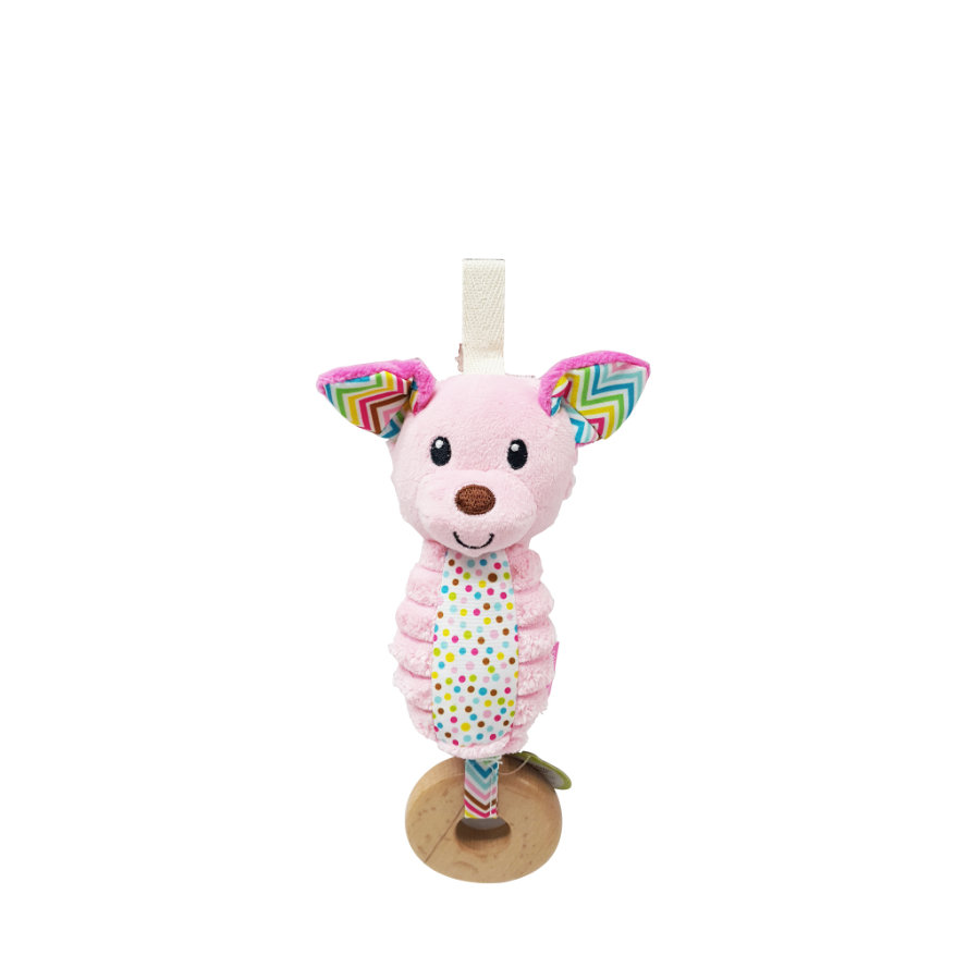Infantino Hochet sonore chien, rose