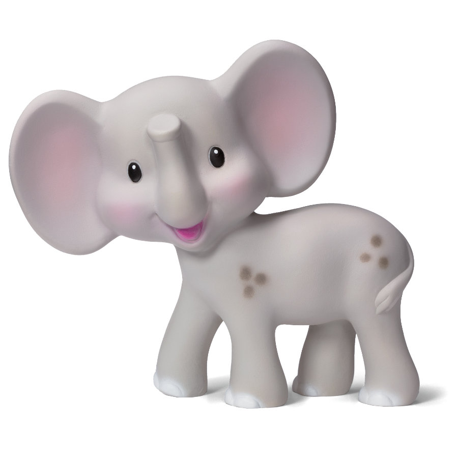 B kids® Squeeze and Teethe - Grey Elephant