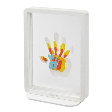 BABY ART Cornice foto con calco Family Touch - Superposed Handprints, White (Plexi)