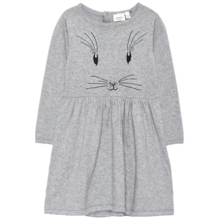 name it Girl s robe tricotée Baxi gris mélangé