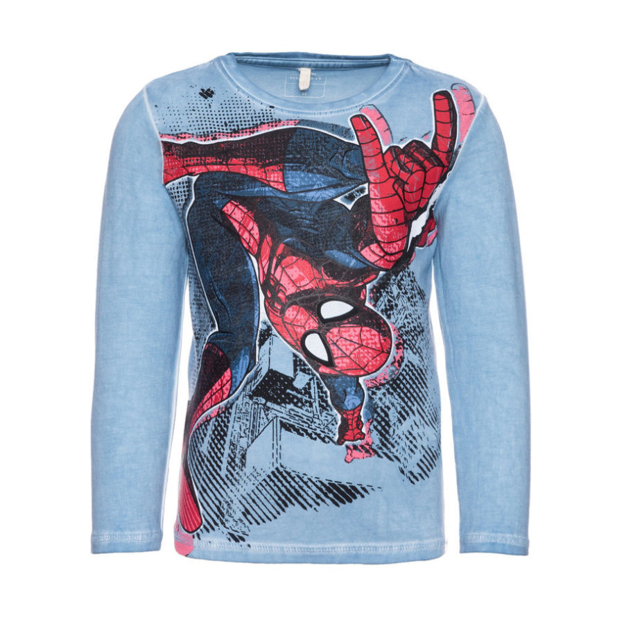 name it Boys Longsleeve Spiderman ashley blauw