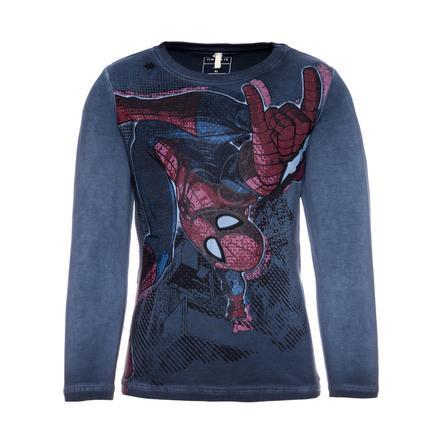 name it Boys Longsleeve Spiderman jurkje blauw