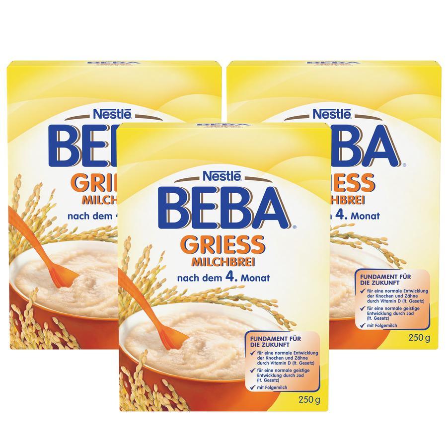 NESTLE BEBA Milk Semolina Mash 3x250g