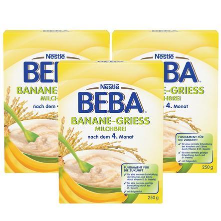 Nestlé BEBA Milchbrei Banane 3x250g