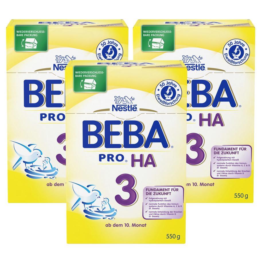 Nestlé BEBA PRO HA 3 Folgemilch 3x550g