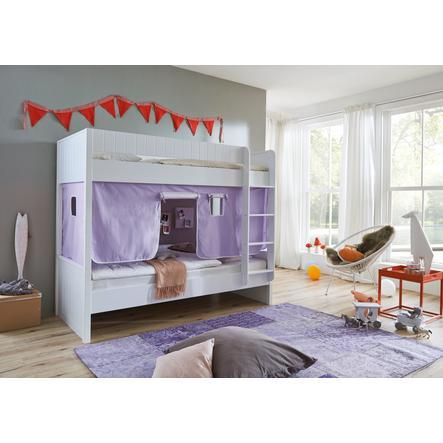 Relita Stoffset für Halbhochbetten purple / weiß
