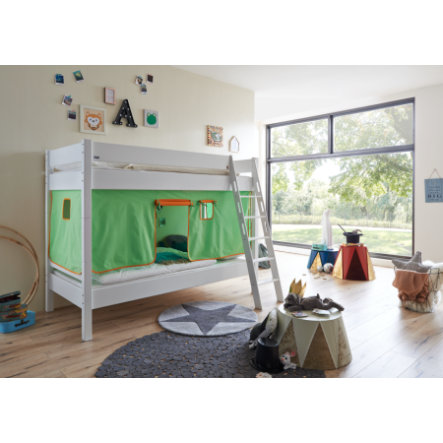 Relita Stoffset für Halbhochbetten grün / orange