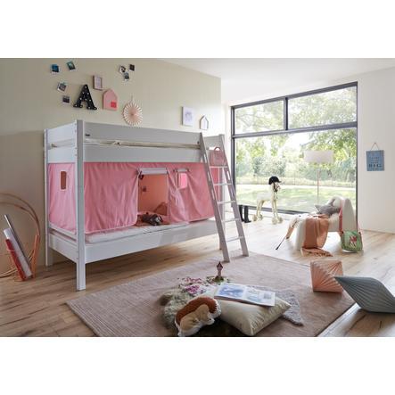 Relita Stoffset für Halbhochbetten rosa / weiß