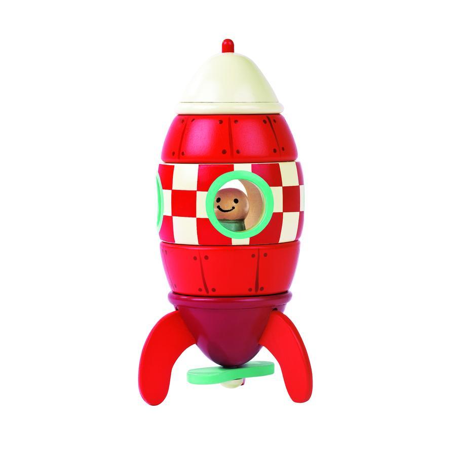 Janod® Magnetická skládačka - raketa, malá