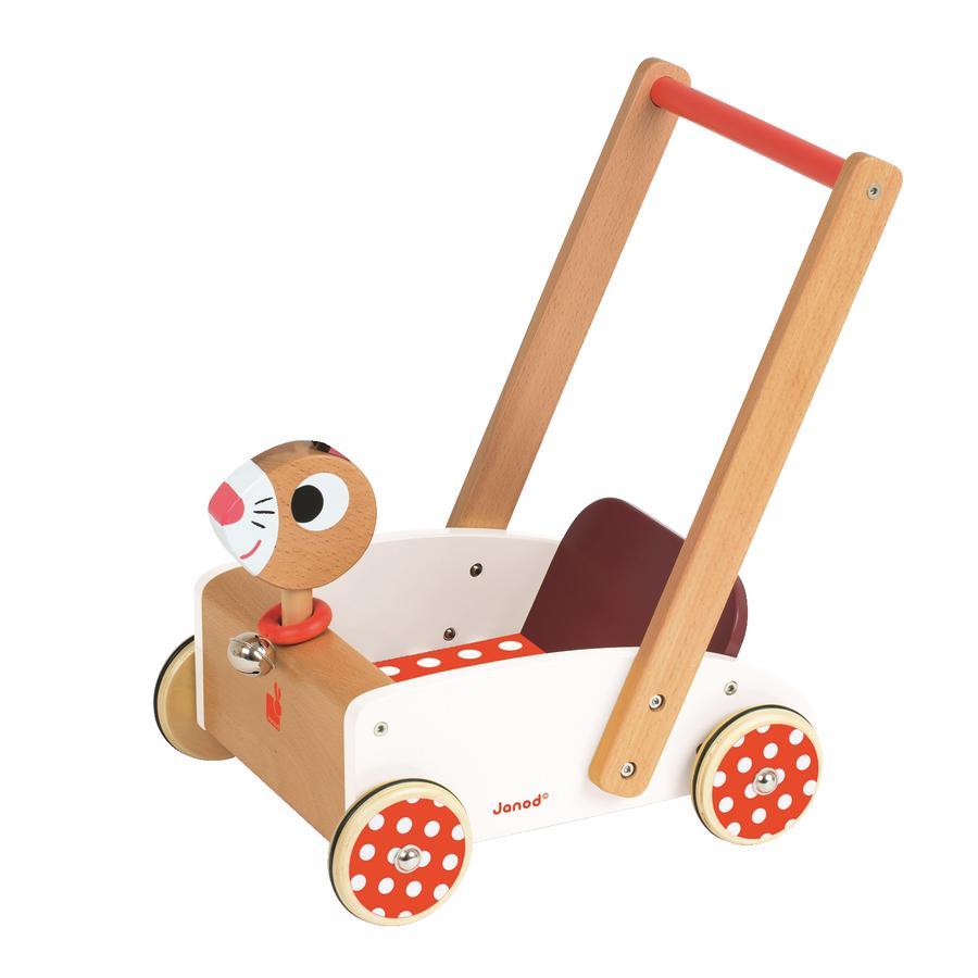 Janod® Dřevěný vozík - Crazy Rabbit