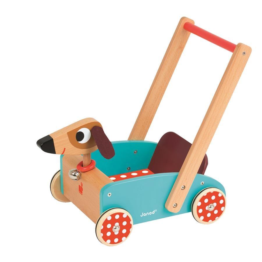 Janod® Taaperokärry koira Crazy Dog