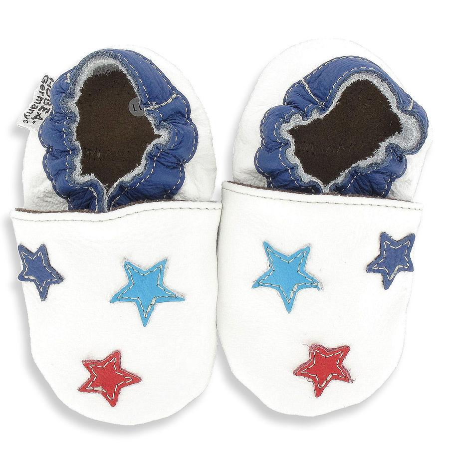 HOBEA Chaussons bébé étoiles blanc