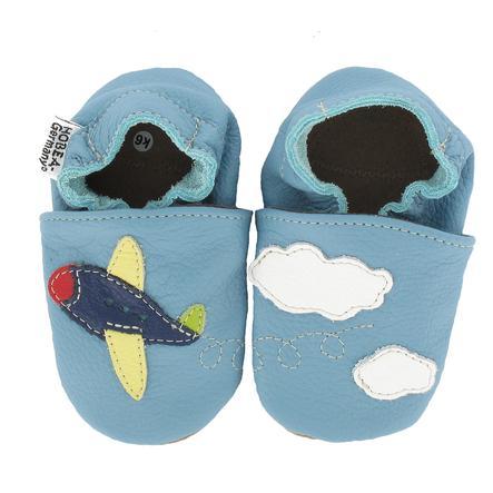 HOBEA Chaussons bébé avion bleu clair