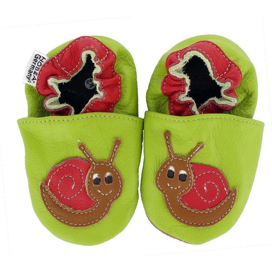 HOBEA Chaussons bébé escargot vert
