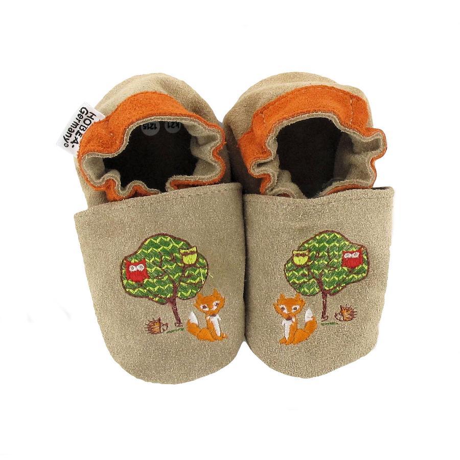 HOBEA Chaussons bébé animaux de la forêt brun clair