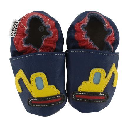 HOBEA Chaussons bébé pelleteuse bleu foncé