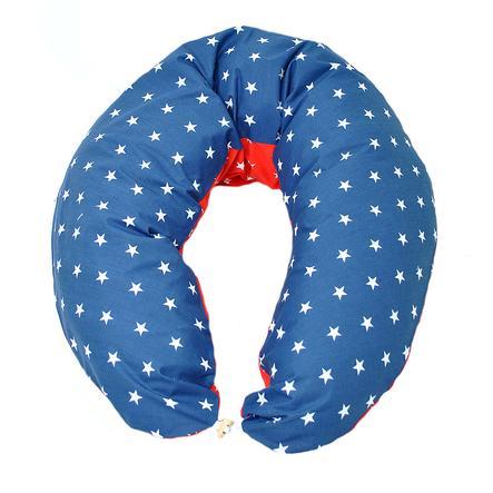 HOBEA Coussin d'allaitement étoiles bleu/rouge