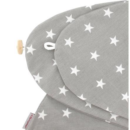 HOBEA-Germany Pokrowiec na poduszkę do karmienia Gwiazdki szary/biały