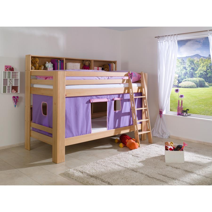 Relita Stoffset für Etagenbett purple / rosa