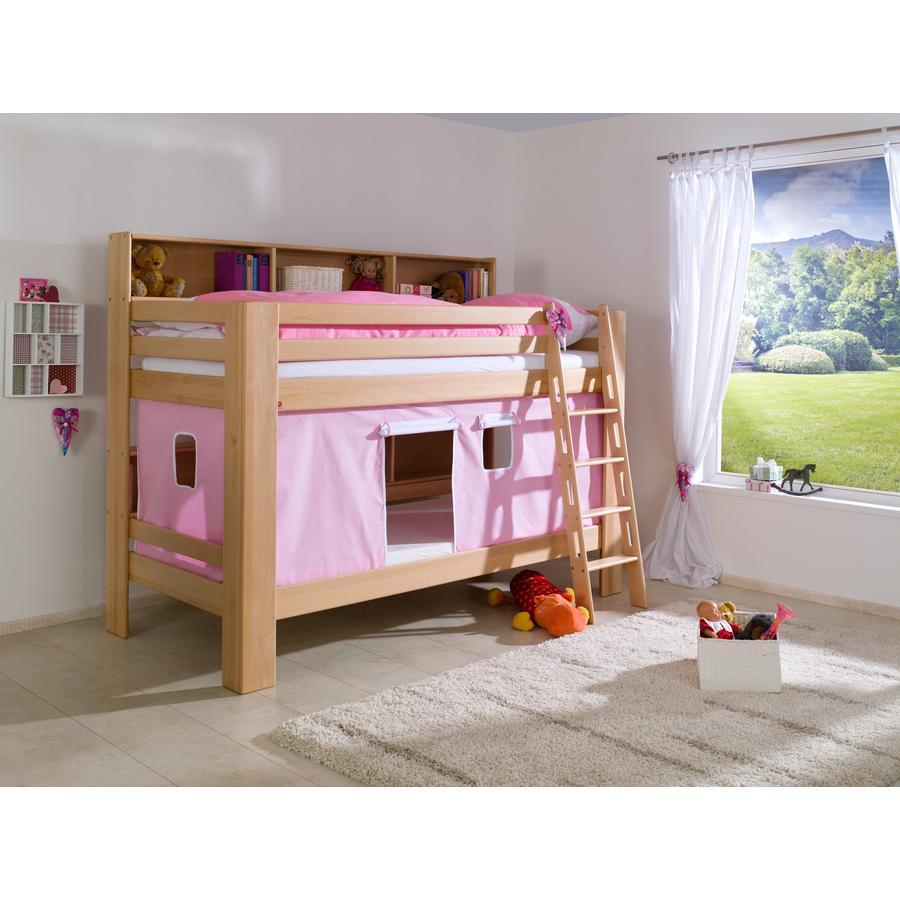 Relita Stoffset für Etagenbett rosa / weiß