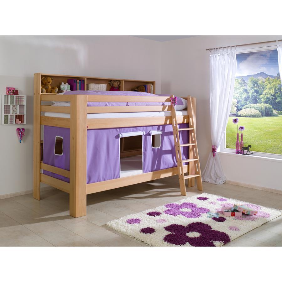 Relita Stoffset für Etagenbett purple / weiß