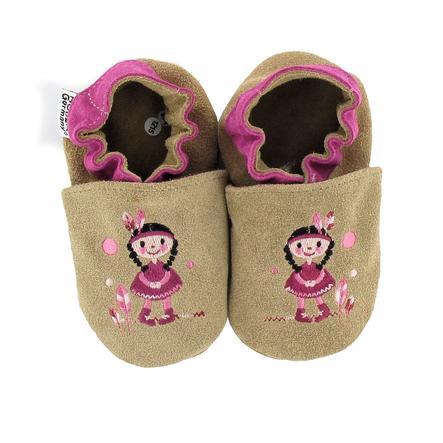 HOBEA Chaussons bébé indienne ocre