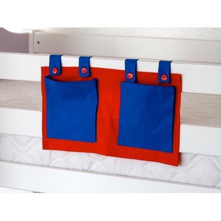 Relita Stofftasche für Hoch- und Etagenbetten blau / rot