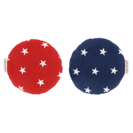 HOBEA-Germany® Polštářek z třešňových pecek hvězdičky / červeno- modrý