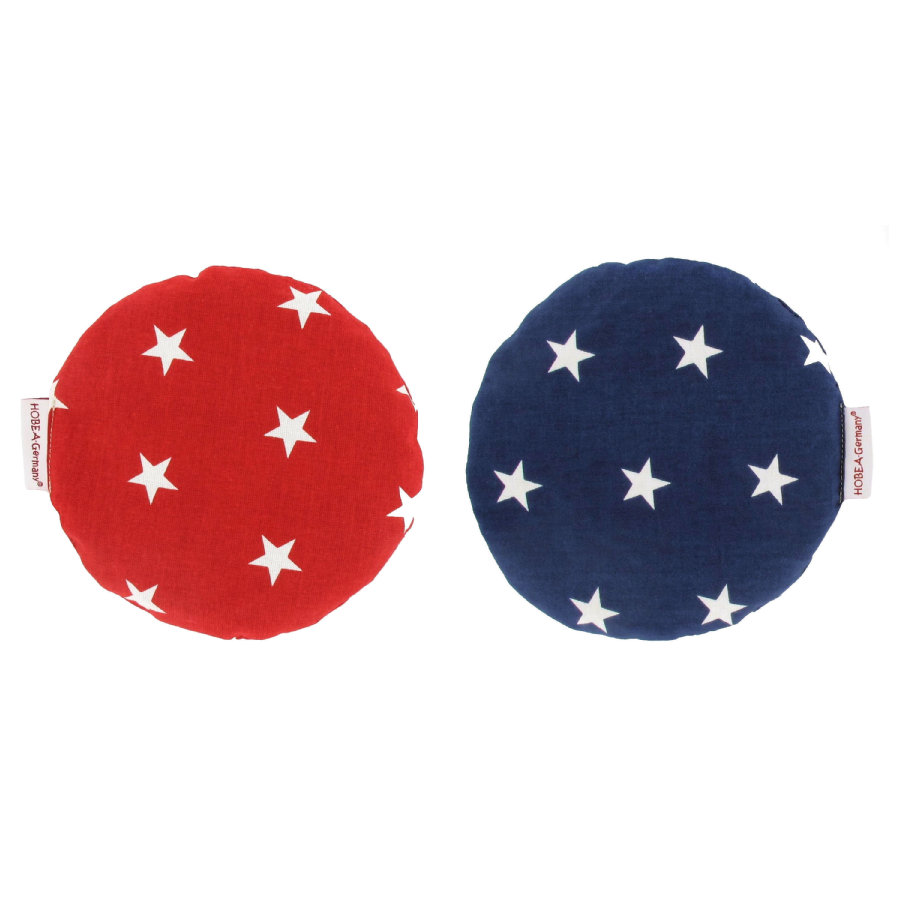 HOBEA-Germany® Kirschkernkissen Design: Sterne / rot und blau