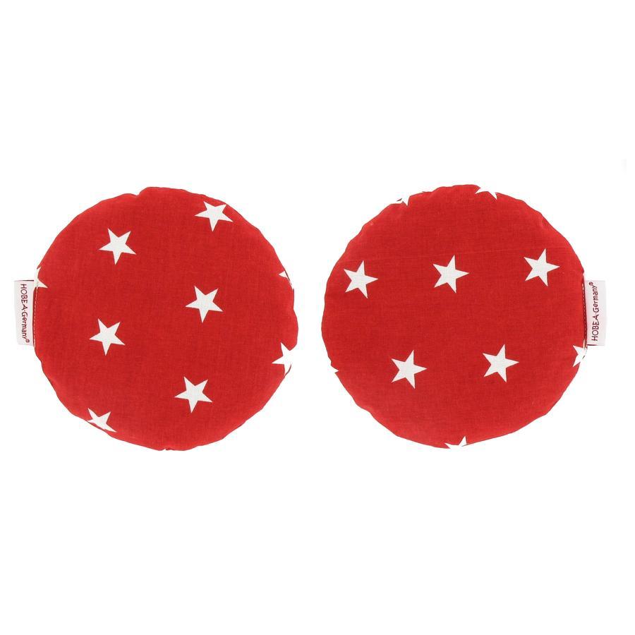 HOBEA Coussin chauffant noyaux de cerise  étoiles rouge
