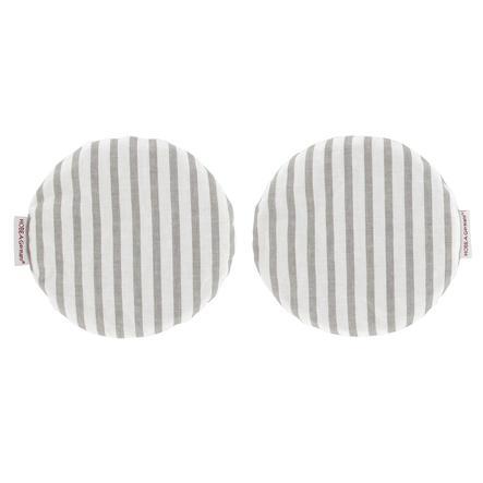 HOBEA Coussin chauffant noyaux de cerise  rayures, gris