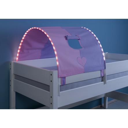 Relita 1er Tunnel mit LED-Beleuchtung purple / rosa-Herz