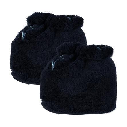 EDITION4BABYS Coral Fleece Shoes marinblå ränder
