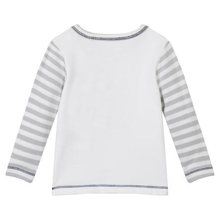 ESPRIT Paski koszuli z długim rękawem w paski ecru