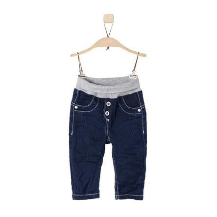 s.Oliver Girl s spodnie z niebieskiego denimu, rozciągnięte na niebiesko.