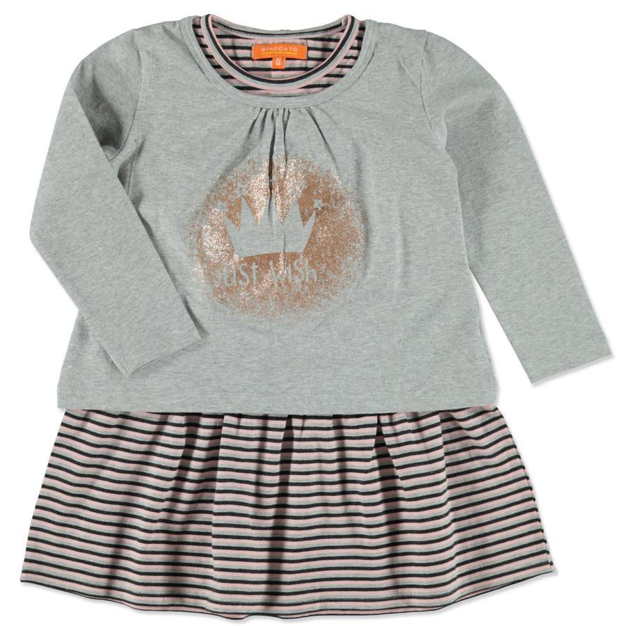 STACCATO Girl s jurk 2in1 lichte steenmelange