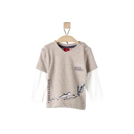 s.Oliver Långärmad tröja brown knit