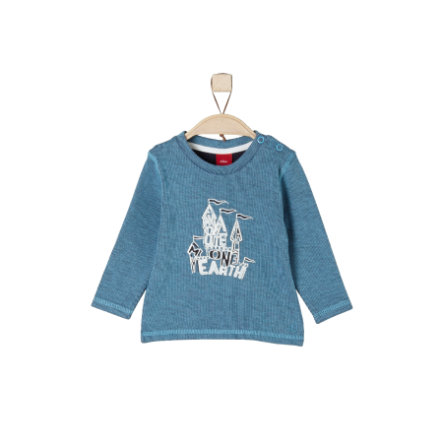 s.Oliver Boys Mélange azul de manga larga