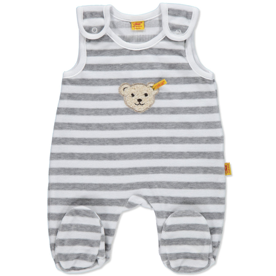 STEIFF Baby Velour Rompers Set 2 pcs. softgrey
