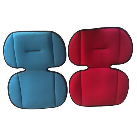 AXKID Matelas réducteur d'assise, rouge/bleu