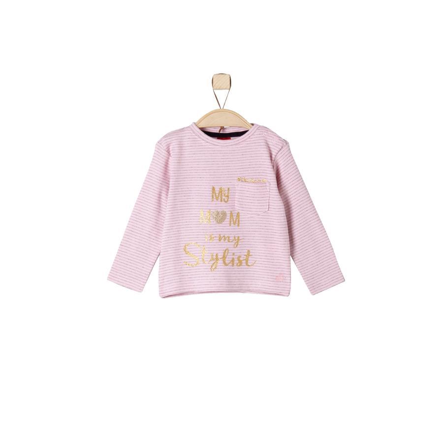 s. Olive r Girls Longlseeve light pink stripes
