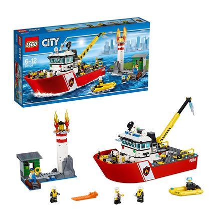 LEGO® City - Le bateau des pompiers 60109