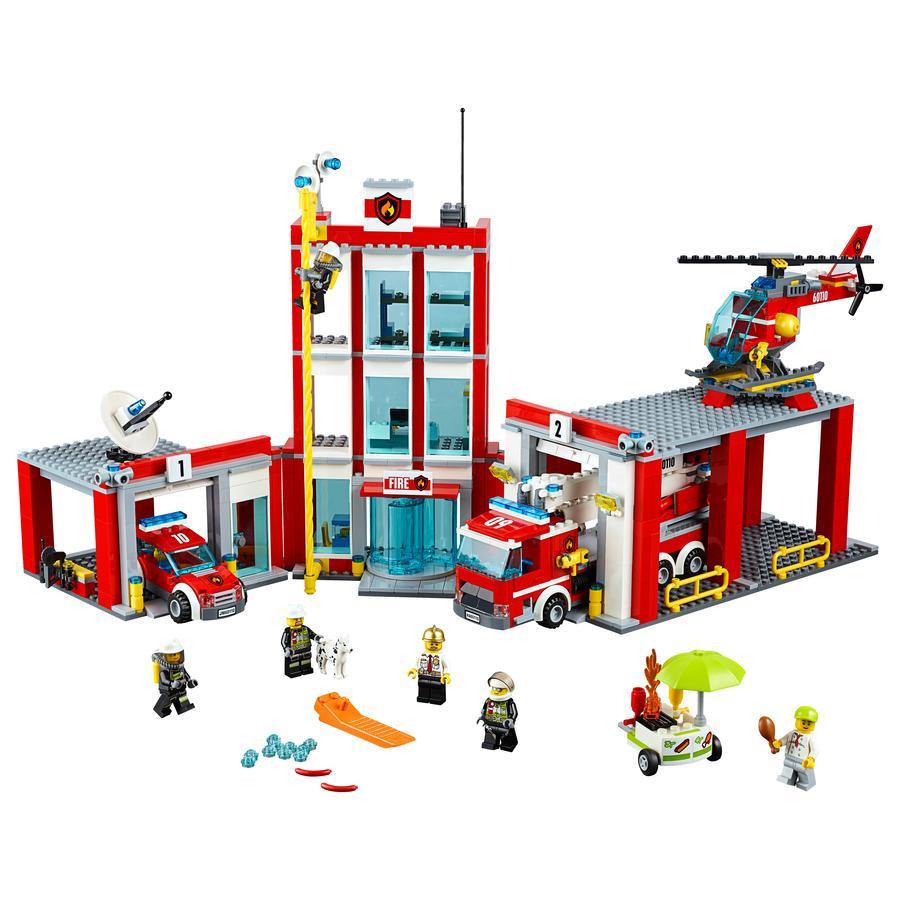 lego city la caserne des pompiers 60110 - Lego City Pompier