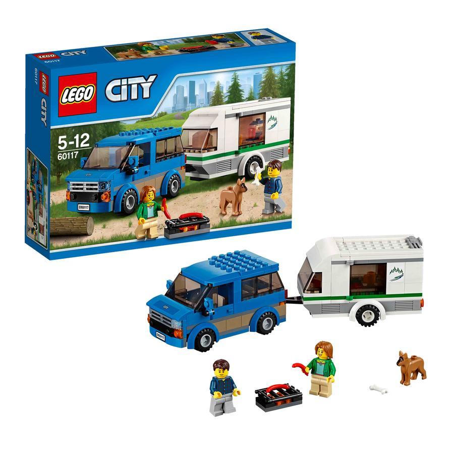 LEGO® City - Minibus og campingvogn 60117
