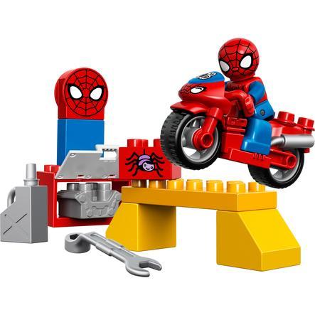 LEGO® DUPLO® Spiderman™ - L'atelier de la moto-araignée de Spider-Man 10607