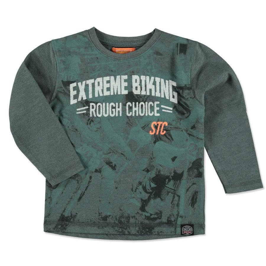 STACCATO Boys Shirt donker bos melange