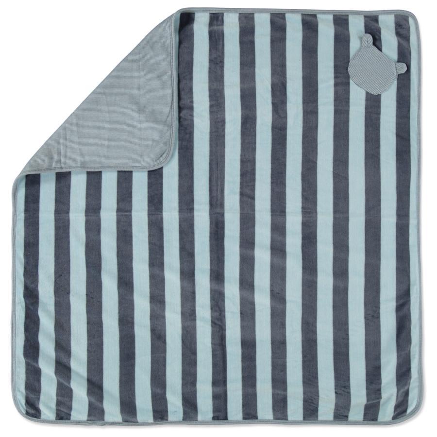 STACCATO Decke Nicki grey blue Streifen