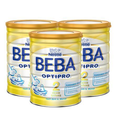 Nestlé BEBA OPTIPRO 2 Folgemilch Stärkefrei 3x800g