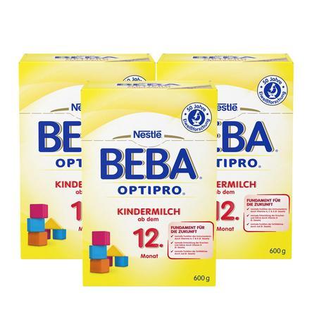 NESTLE BEBA Children's Milk 1+ 3x600g