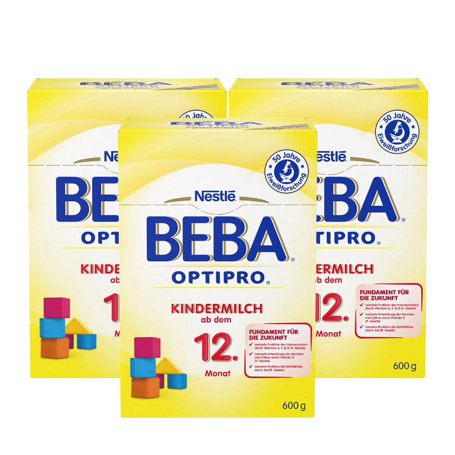 NESTLE BEBA OPTIPRO Kindermilch 1+ 3 x 600g